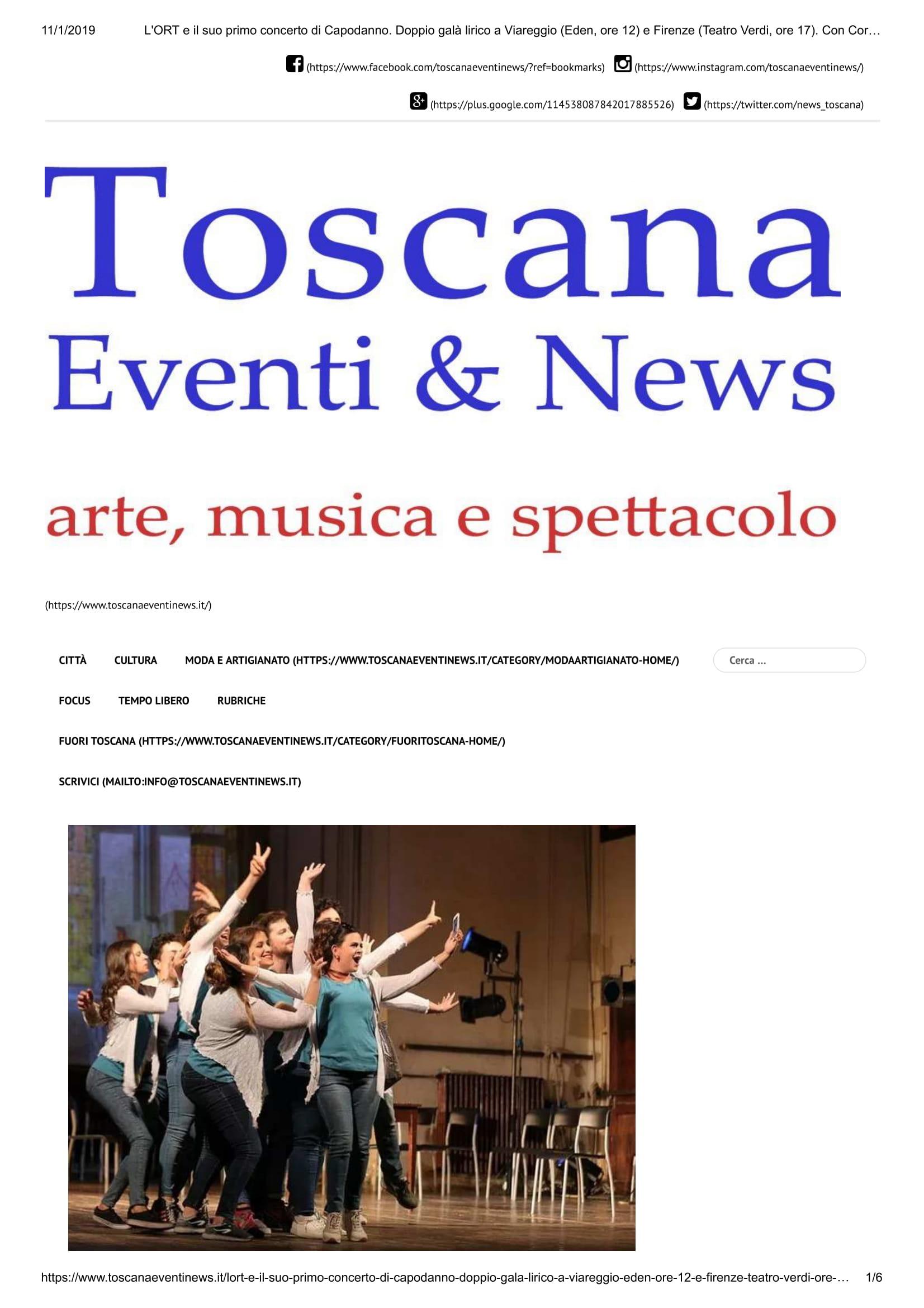 L'ORT e il suo primo concerto di Capoda... Corso d'Opera – Toscana Eventi & News-1