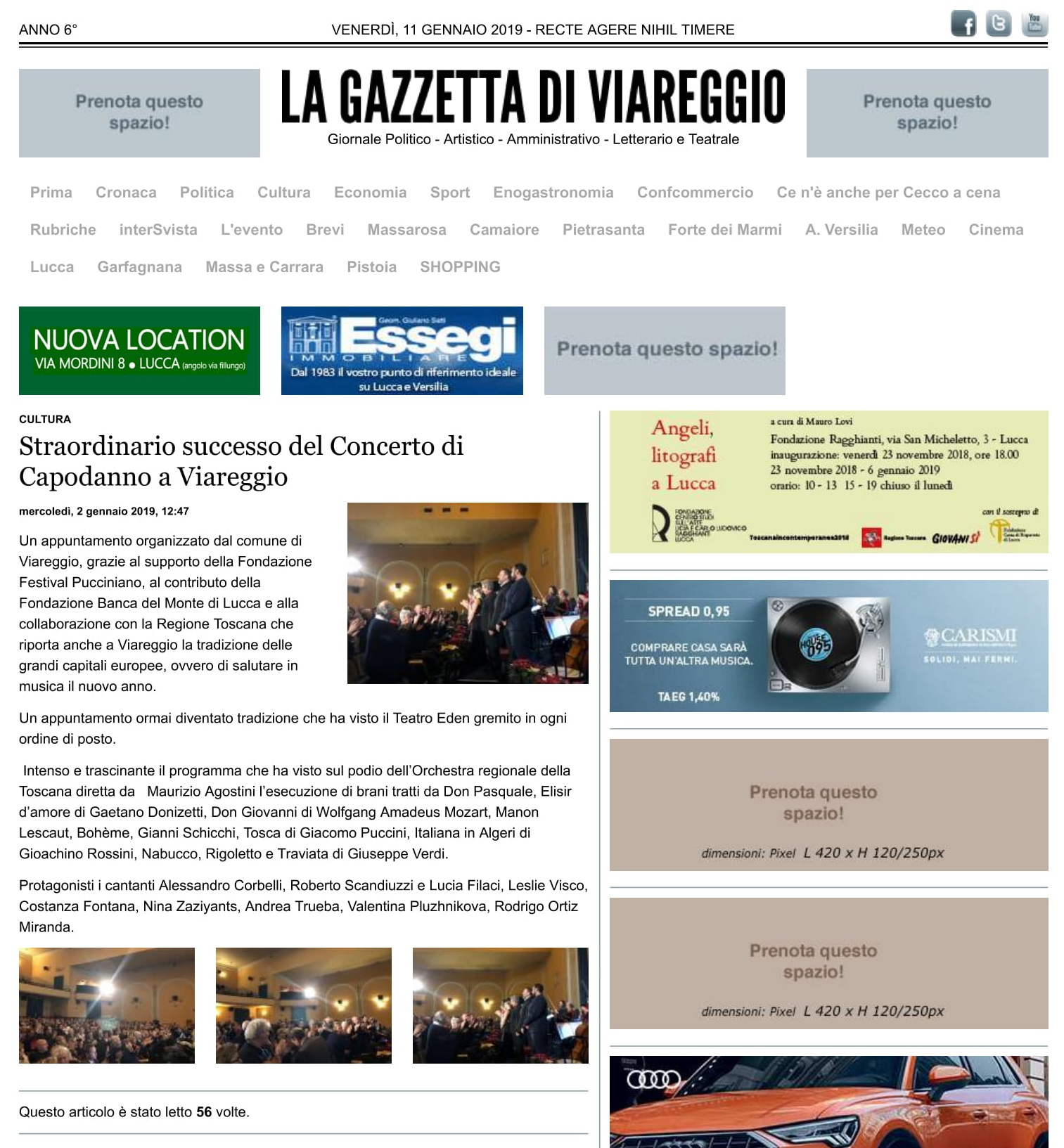 Straordinario successo del Concerto di ...a Viareggio » La Gazzetta di Viareggio-1