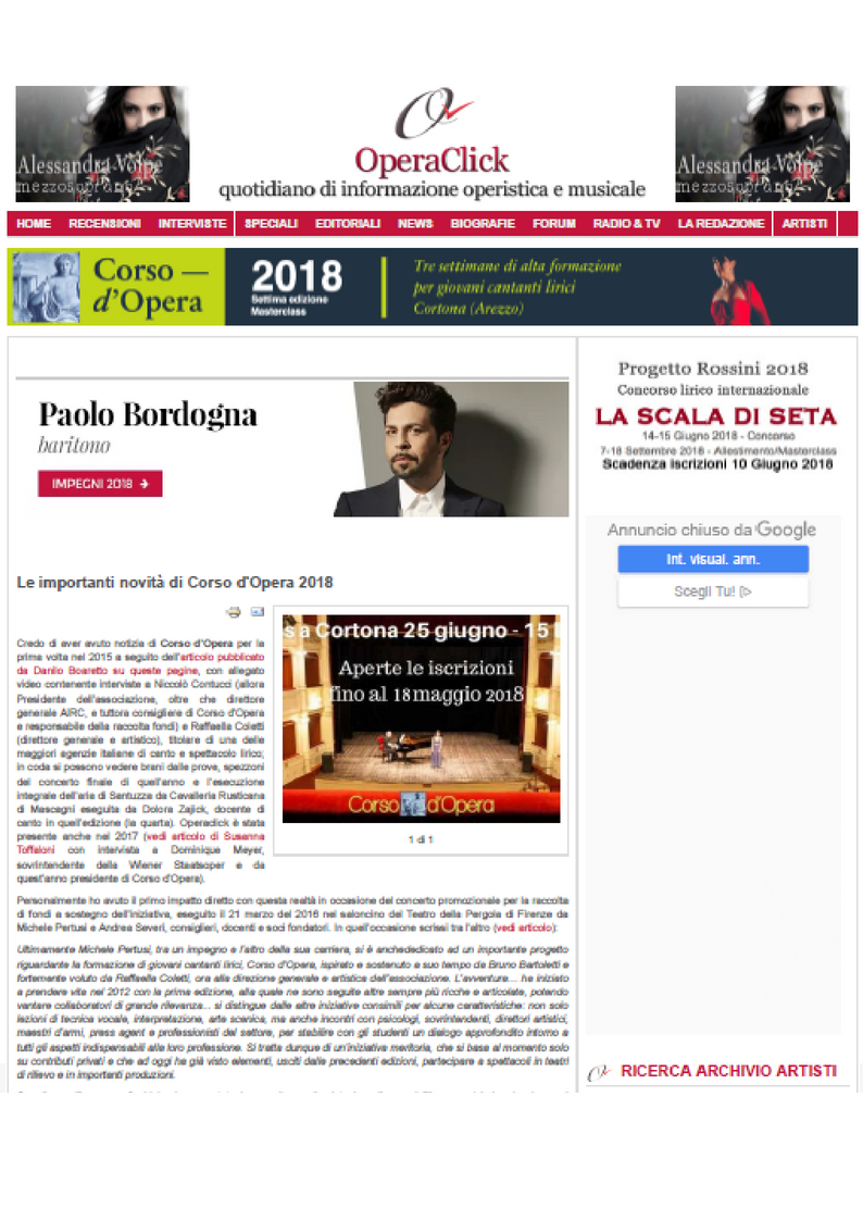 Prima pagina Operaclick