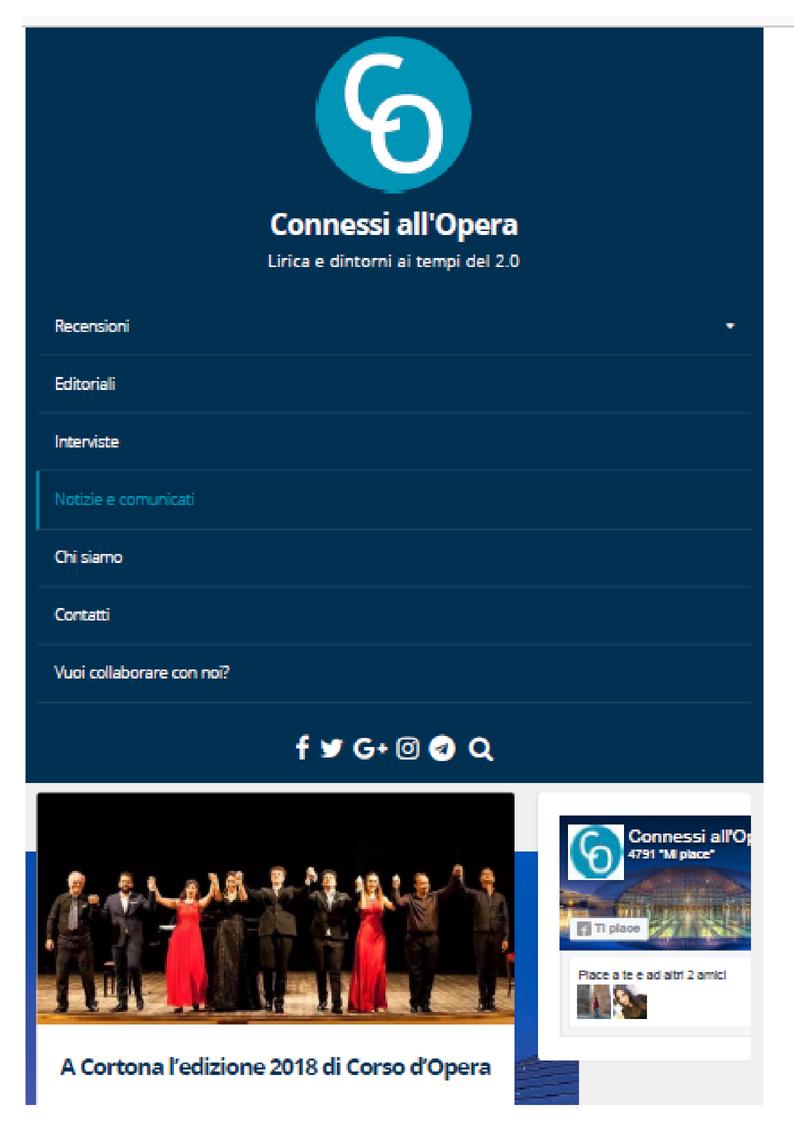 Prima pagina connessiall'opera